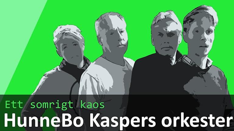 Bild på låtsasbandet Hunnebo Kaspers Orkester.