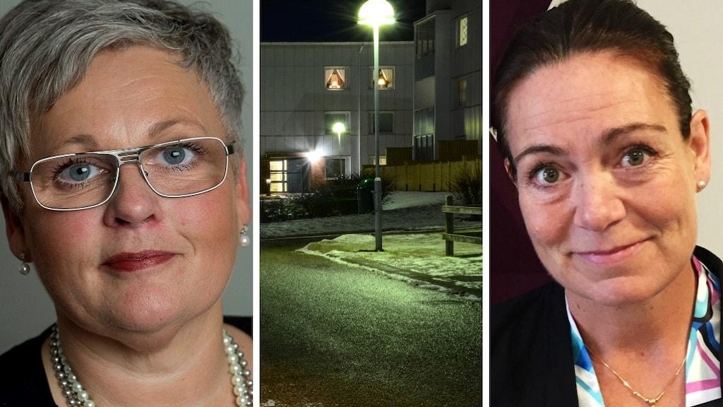 Paula Holmqvist (S) till höger. Och Ann-Sofie Alm (M) till vänster.
