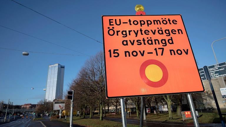 avspärrning eu-toppmöte, göteborg 2017