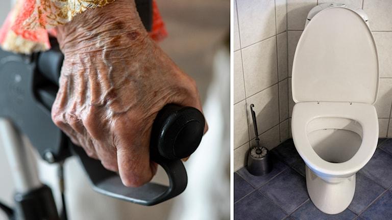 Kvinna glömdes kvar på toaletten
