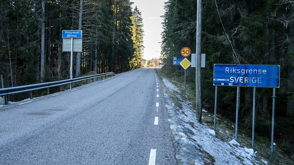 Riksgränsen mellan Norge och Sverige.