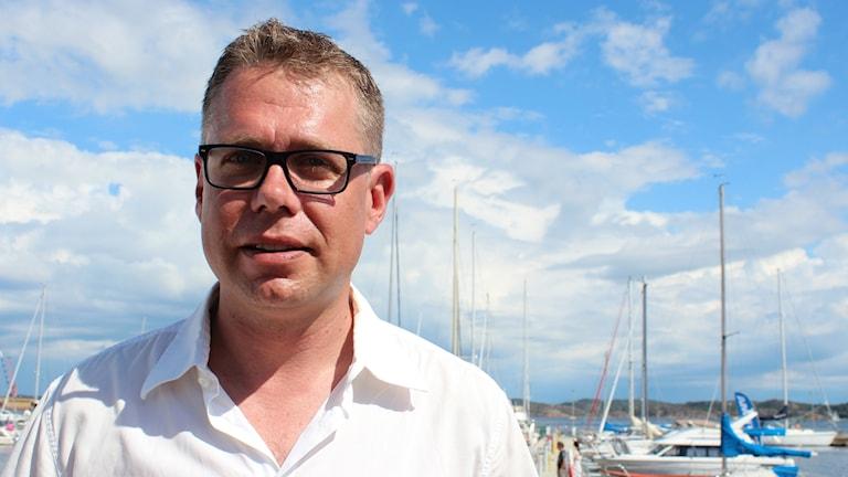 Jan Andersson i Lysekils hamn. Foto: Jens Wingren