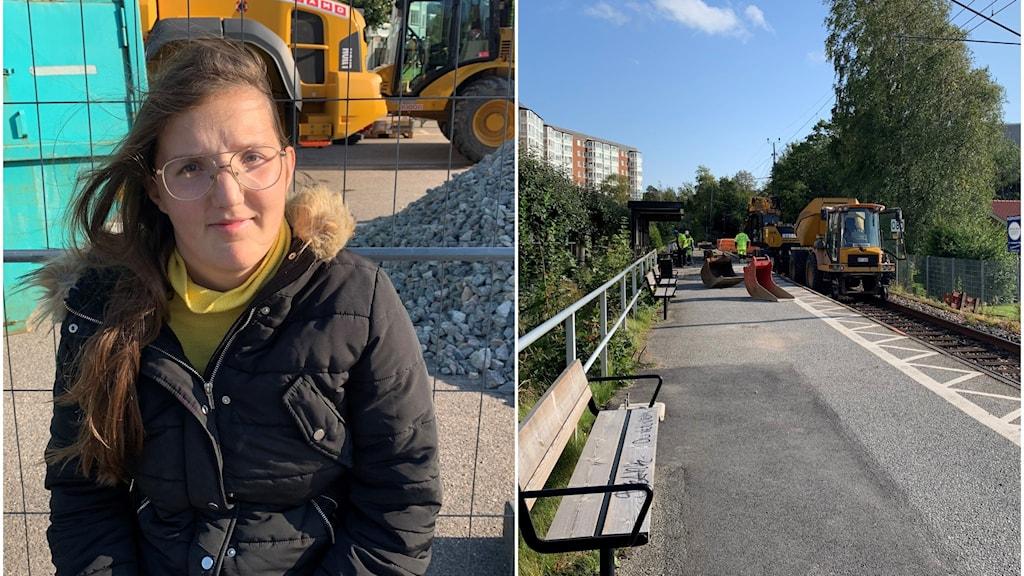 Ana Juhlin från Ljungskile väntar på bussen vid östra station.