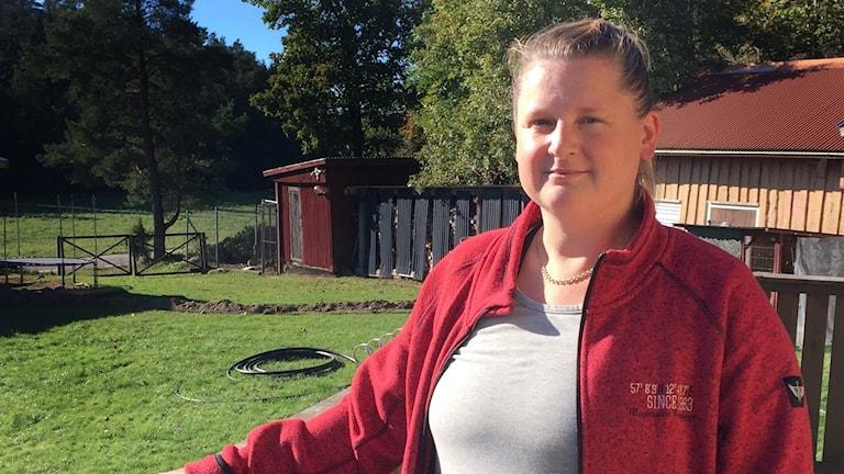 Veronika Myrström, mamma till ett barnen som ofredades sexuellt på nätet