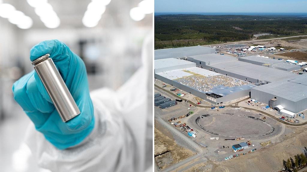 Northvolts batterifabrik i Skellefteå.