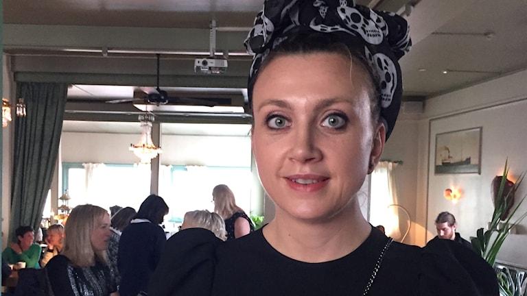 En porträttbild av författaren Camilla Läckberg