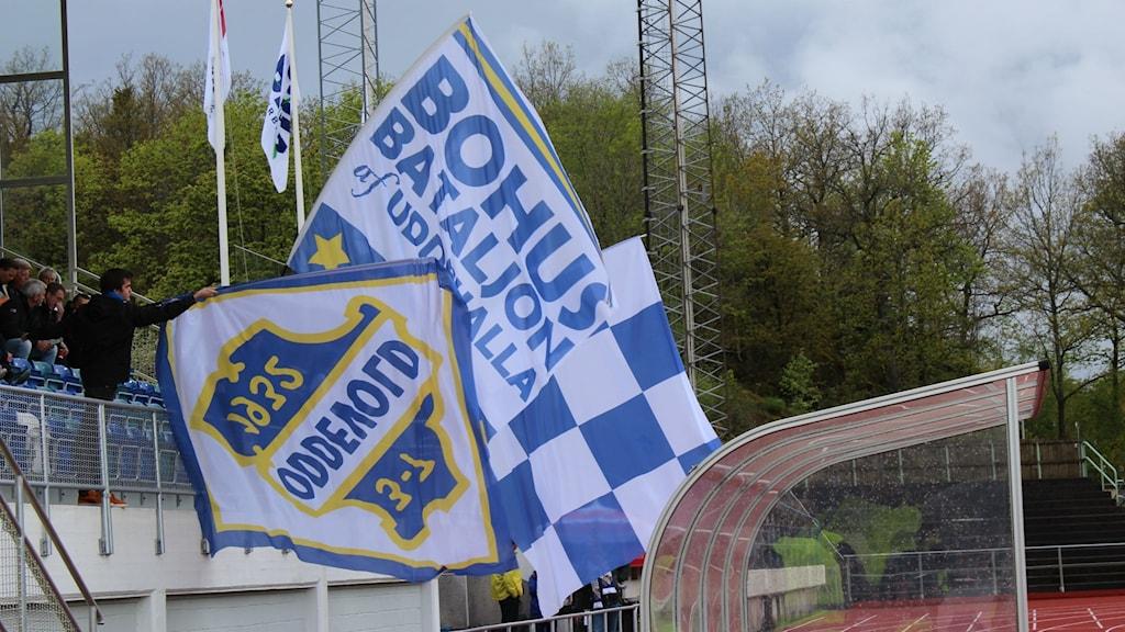 otboll Oddevold supporterflaggor -14 Foto: Bengt Israelsson/Sverigesradio