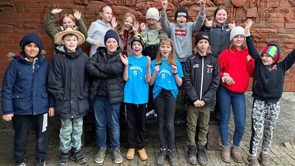 Klass 5A från Tingsbergsskolan i Lödöse tog sig till semifinal.