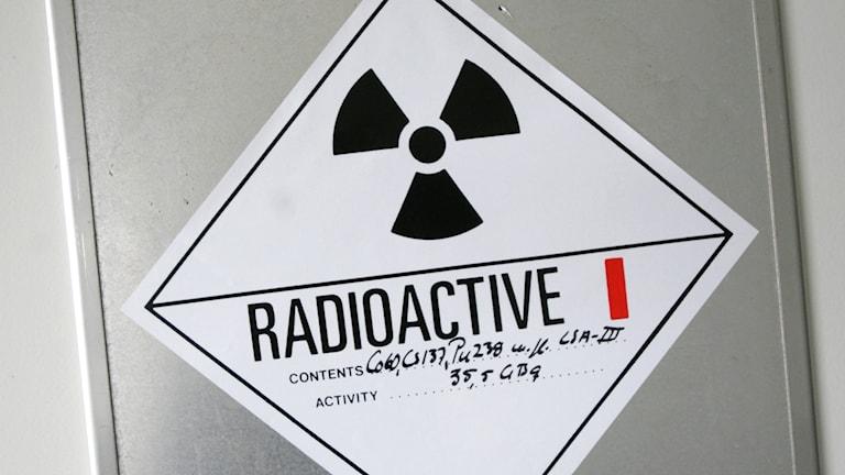 Bild på radioaktivt avfall. Foto: Fredrik Sandberg / TT