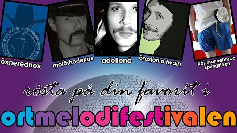 Bild på finalisterna i Ortmelodifestivalen 2018.