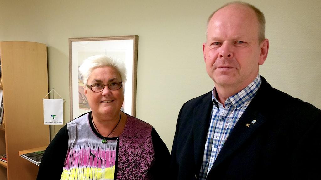 Marie Dahlin (S) och Gunnar Lidell (M) i Vänersborg