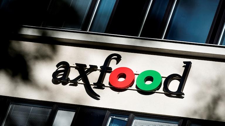En bild på Axfood-skylt.w
