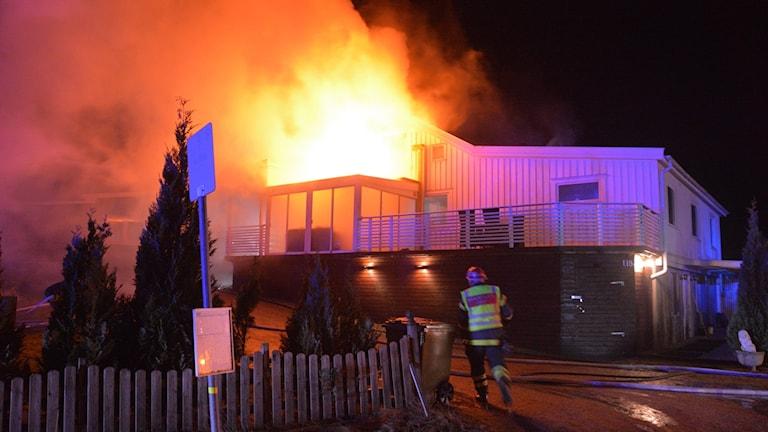 Brand på Orust.