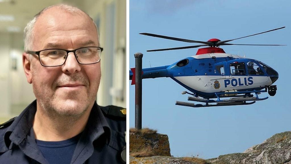 Henrik Rörberg och helikopter