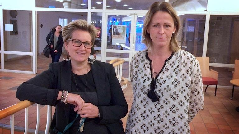 Strömstads gymnasium Heléne de Leeuw och Helen Larsholt