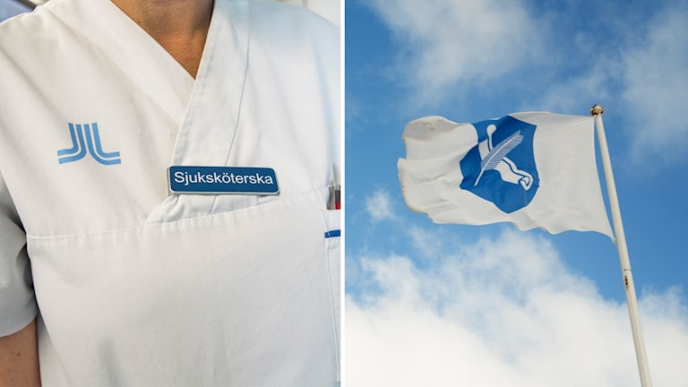 Sjuksköterska Munkedals kommun flagga