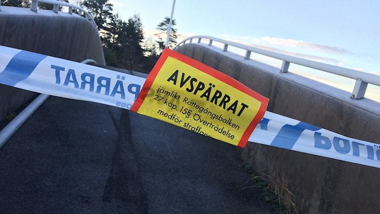 Avspärrning över en bro