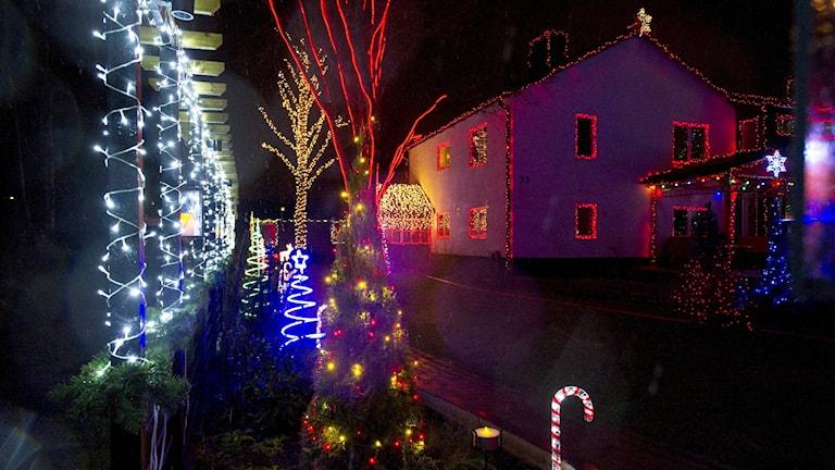 Julpyntat hus