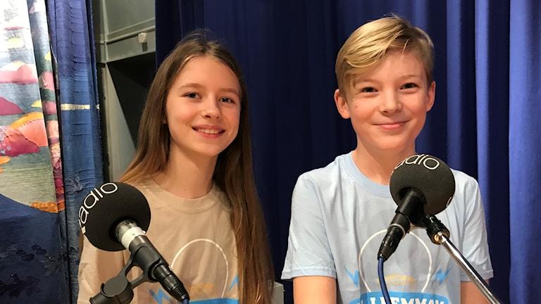Stina Vesterlund och David Wärnblom från Paradisskolan i Trollhättan
