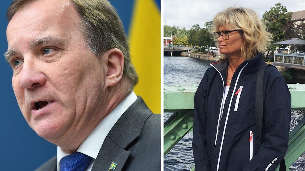 Stefan Löfven och Paula Björnstad.
