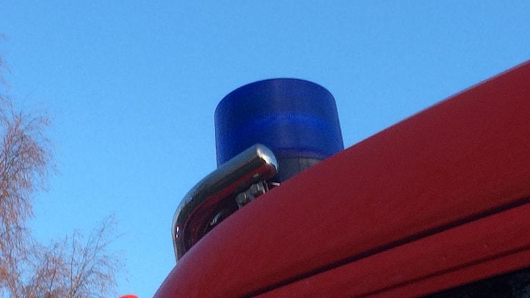 Bild på detalj av brandbil