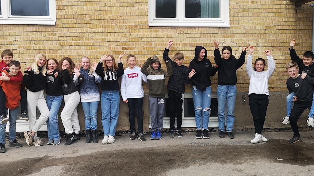 Klass 5B från Ljungskileskolan.