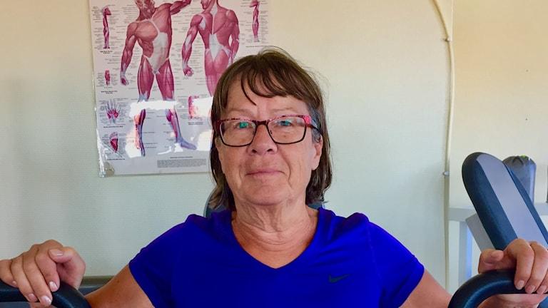 Britt-Marie Knutsson på Tumlarens gym.