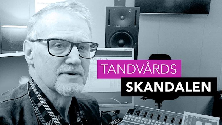 Kent Larsson i P4 Västs radiostudio. Foto: Richard Veldre/Sveriges Radio