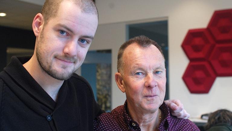 Joel Hansson och Bengt Israelsson. Foto: Julia Forsberg/Sveriges Radio