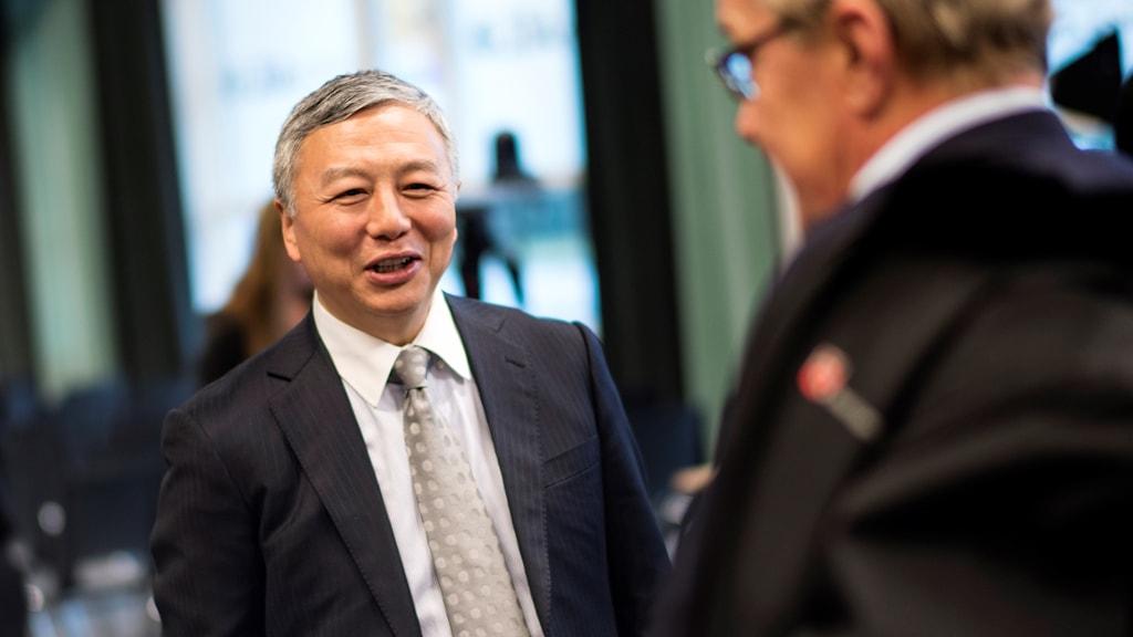 Kai Johan Jiang på presskonferensen