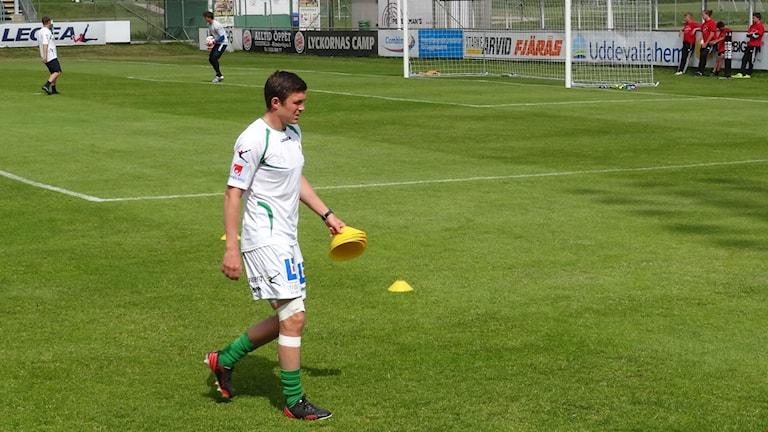Fotboll Ljungskile Hannes Stiller inför match