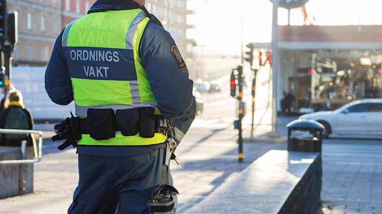 Ordningsvakt i stadenn.