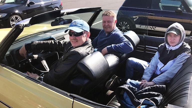 Tre generationer norrmän var på besök i Strömstad under skärtorsdagen. Ivar, Anders och Leander.