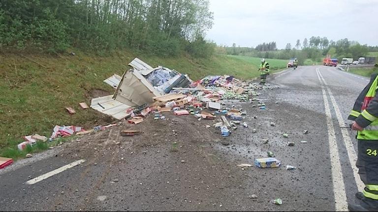 Olycka ed läsk på vägen