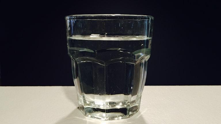 Ett glas vatten. Foto: Jens Wingren/Sveriges Radio