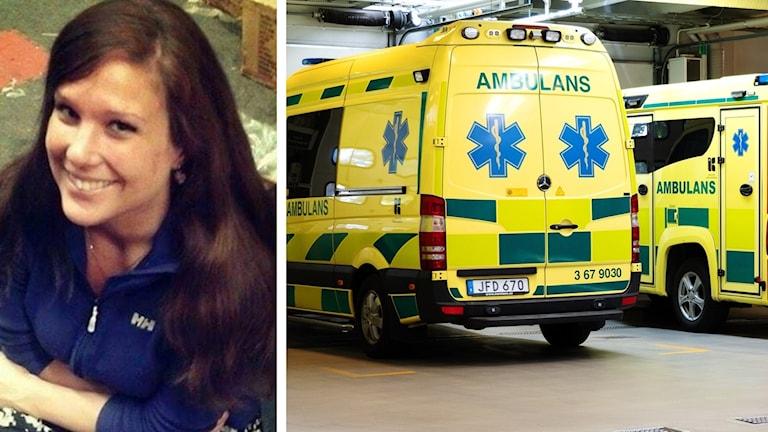 Maria Svensson och ambulans