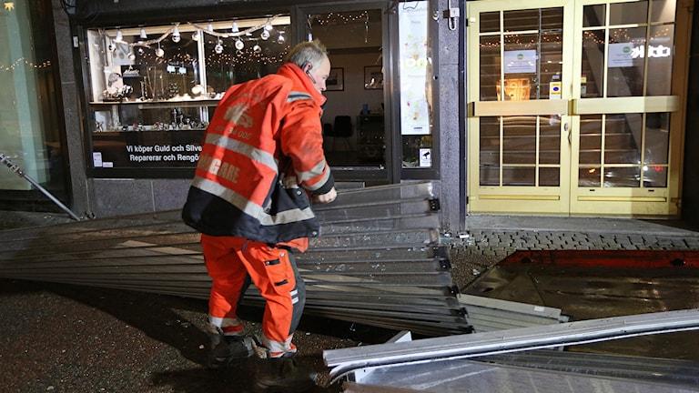 Inbrott i centrala Uddevalla.