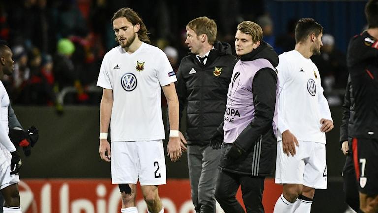 Tom Pettersson var oerhört besviken efter att Östersund släppt in 2-2 i slutminuterna hemma mot Atletic Bilbao från Spanien.