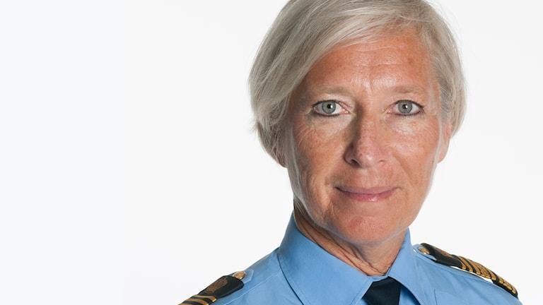Bild på polischef Carina Persson.