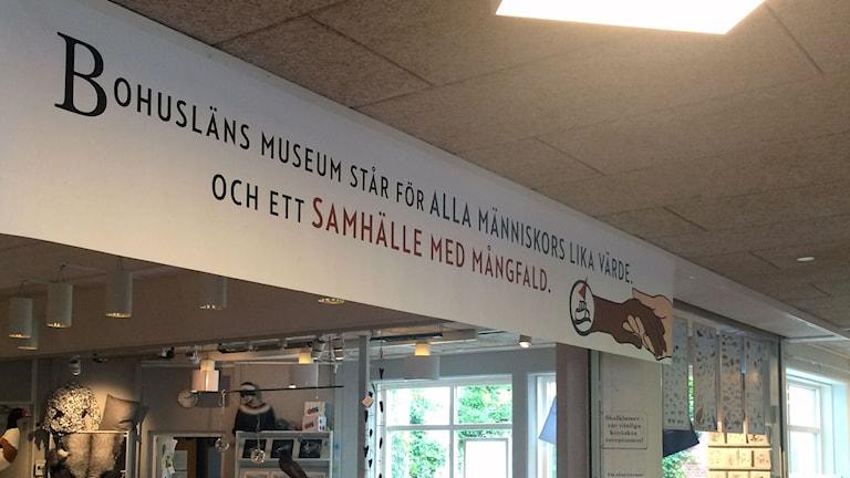 Inifrån bohusläns museums. Entren