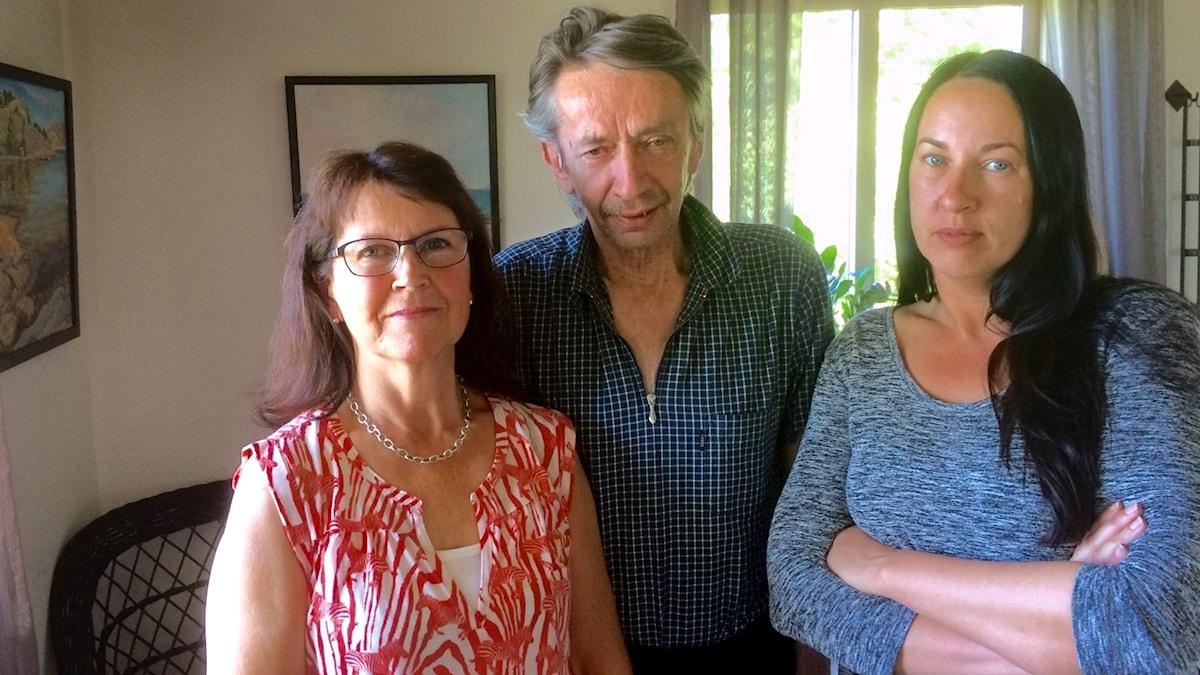 Margareta, Mats, och Anna Svanberg