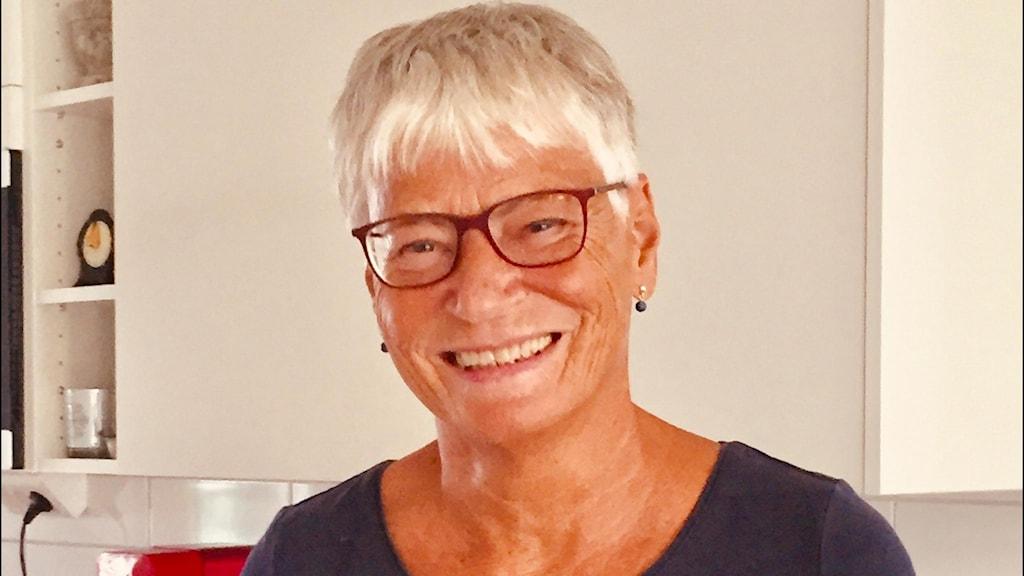 Inga- Lill Johansson, 72 år, trivs med att jobba extra.
