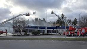 Bild över brandområdet i Lextorp.