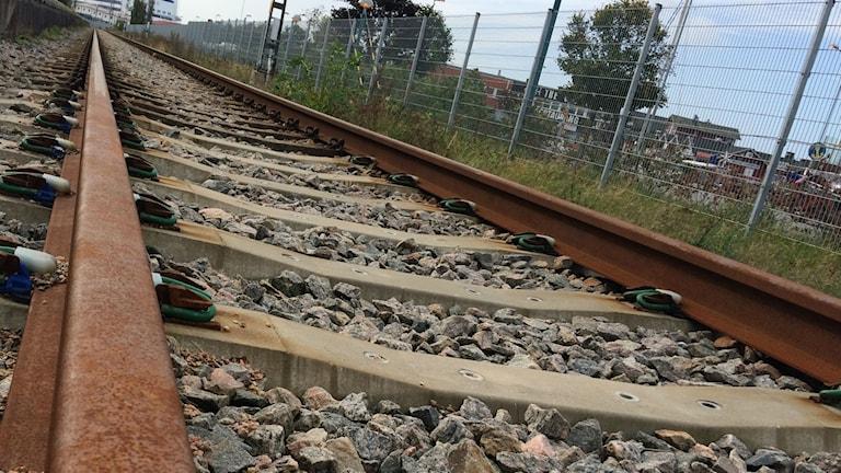 Bild på järnvägsräls