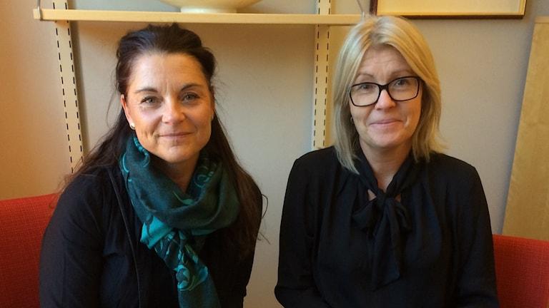 Gunilla Holm, Sabina Johansson, skolkuratorer på Margretegärdesskolan i Uddevalla