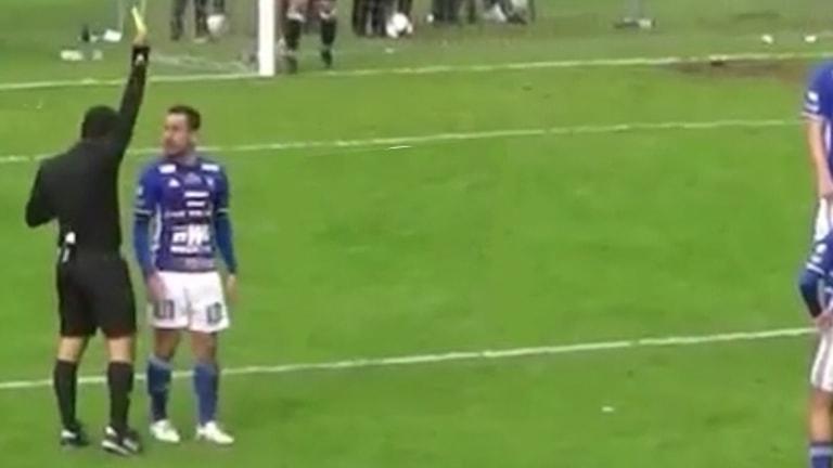 Karlstad-spelaren Bastian Rojas Diaz varnas mot Gauthiod, en varning som enligt Vänersborgs FK borde renderat honom en avstängning.