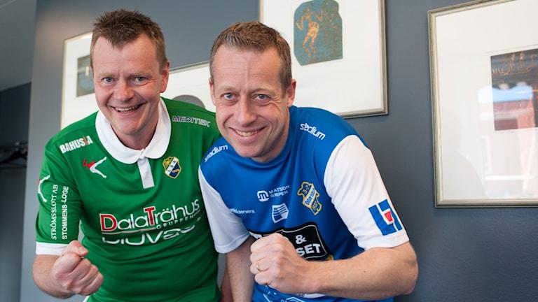 Lars Olsson från LSK fans och Tommy Carlsson från Bohus bataljon