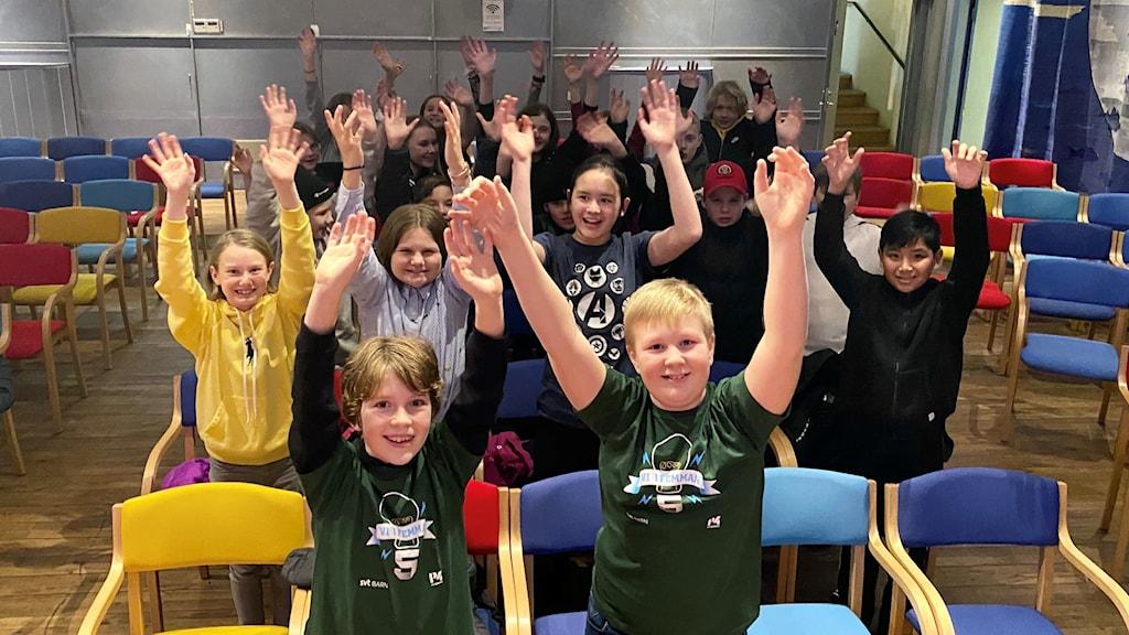 Klass 5A från Herrestadsskolan i Uddevalla tog sig till semifinal.