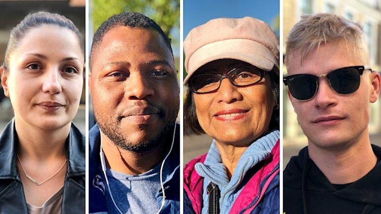 Morgonpendlare i Uddevalla. Fyra bilder på 4 olika men lika människor. Fotade en torsdagsmorgon i Uddevalla.
