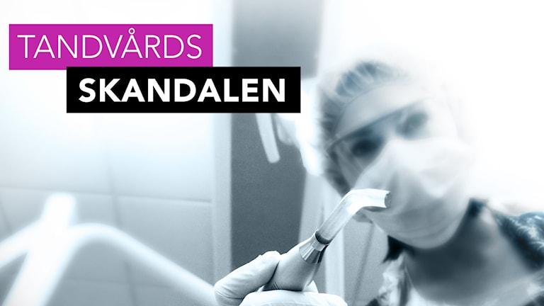 En tandläkare med instrument. Foto: Liv Widell/Sveriges Radio